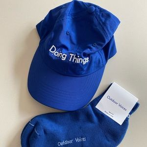 Outdoor Voices Hat + Socks